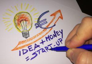 un idea più il denaro fanno la startup